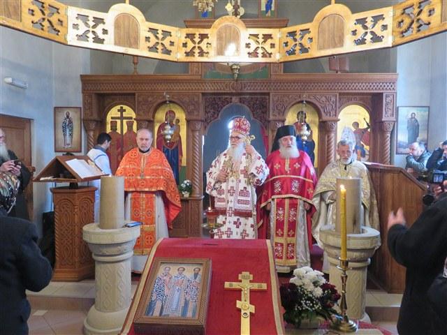 Владичанска Литургија на празник Света Три Јерарха у манастиру Плужац