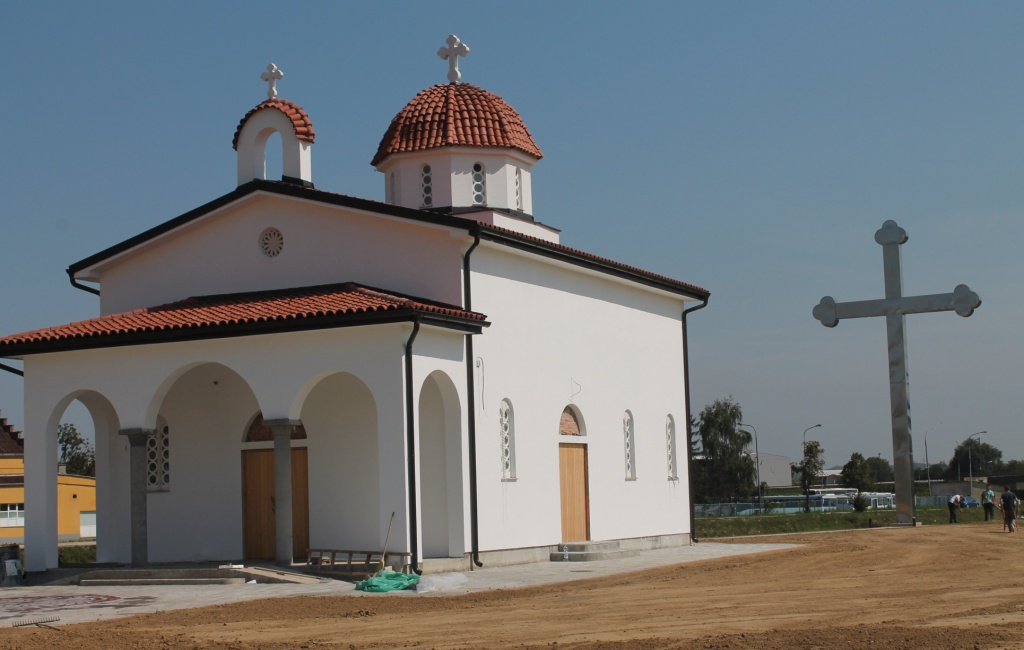 Градња храма Св. Нектарија у Ваљеву