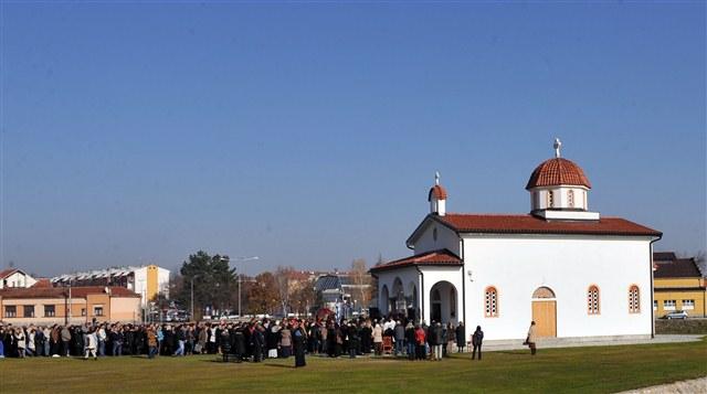 Почела богослужења у Храму Светог Нектарија Егинског