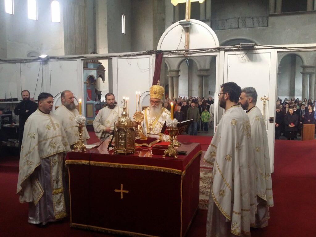 Владичанска Литургија у недељи Светог Јована Лествичника у саборном храму