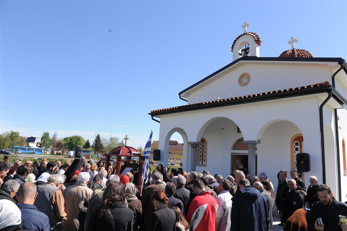 Трећи дан Васкрса у Храму Светог Нектарија Егинског