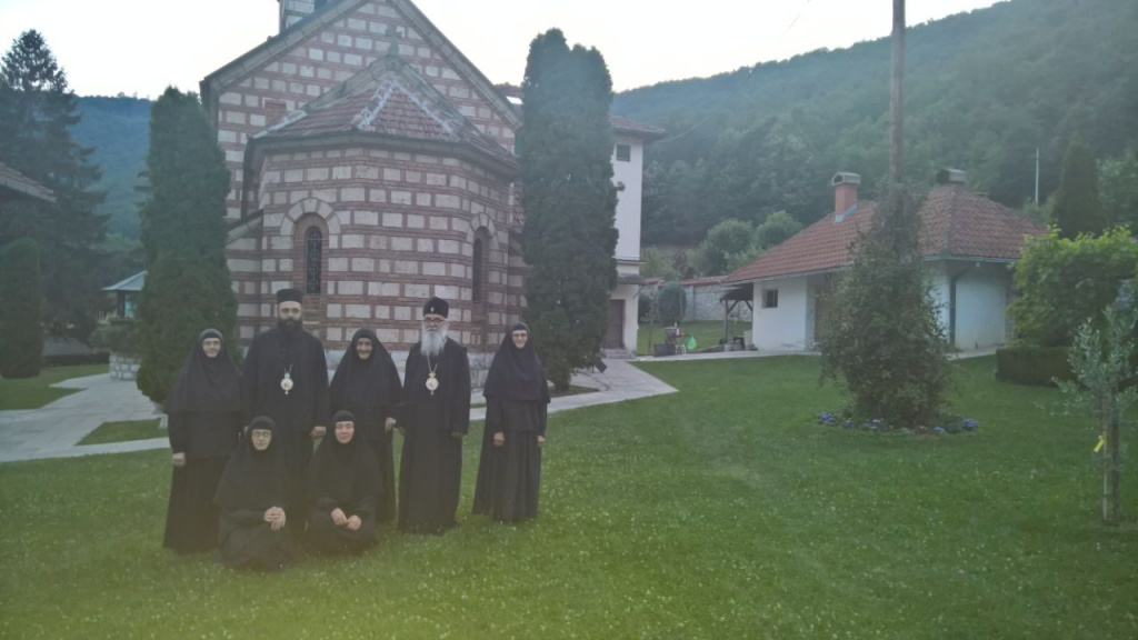 Посета Епископа Милутина и Силуана манастиру Ћелије