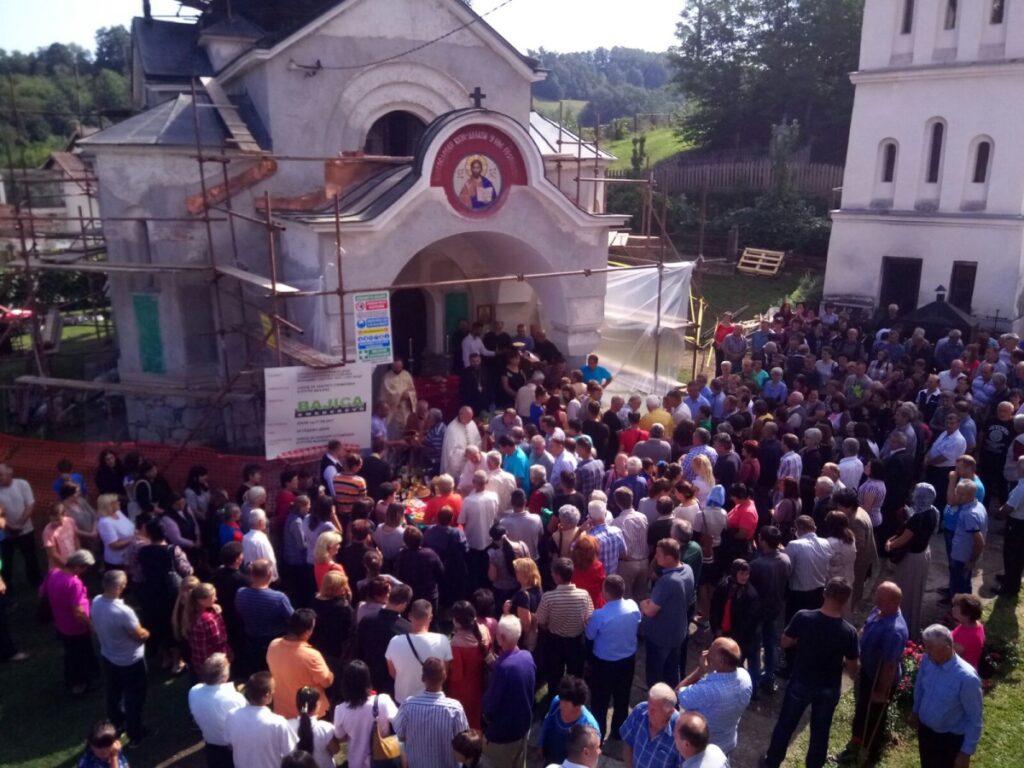 Слава храма Успења Пресвете Богородице у Пецкој