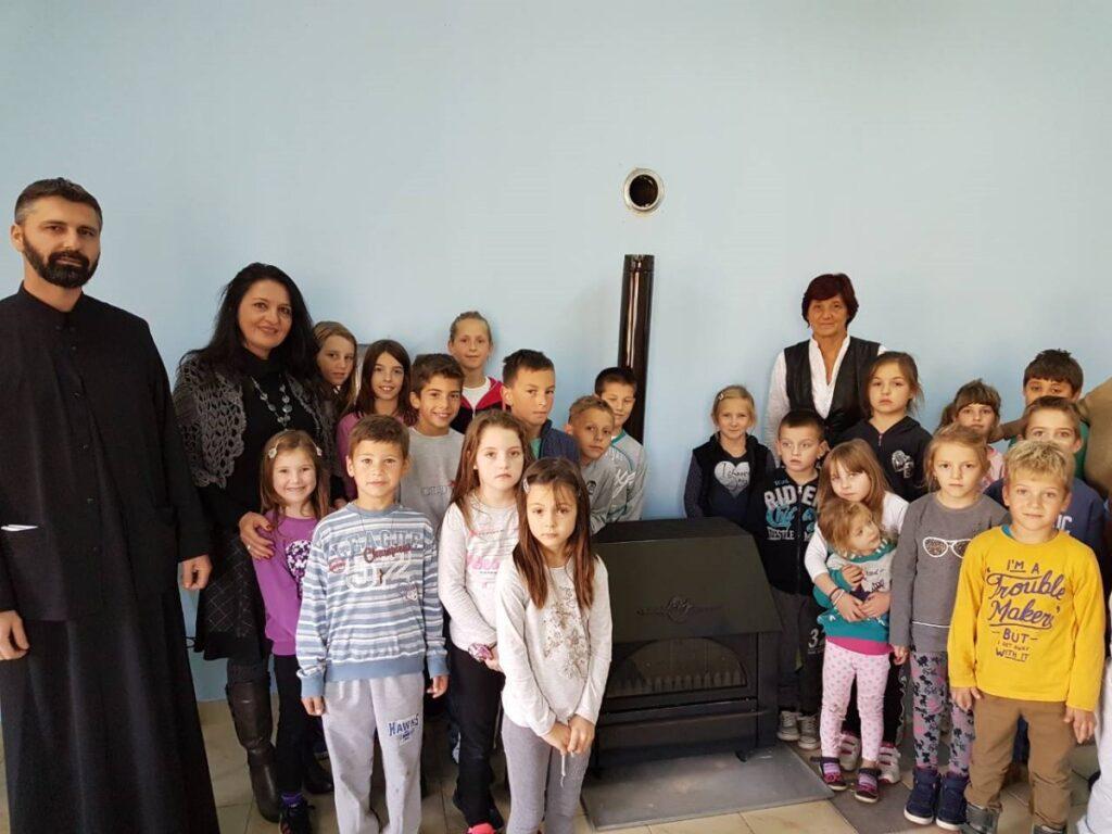 Камин на дар школи у Лелићу
