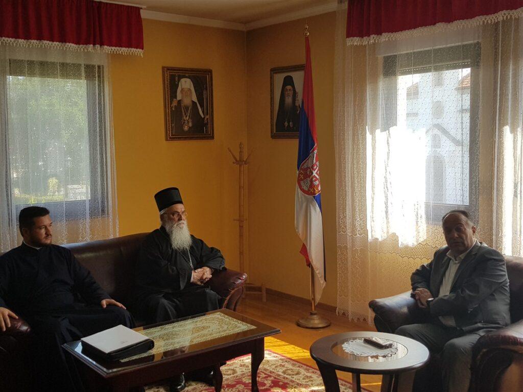 Епископ Милутин примио министра просвете Младена Шарчевића