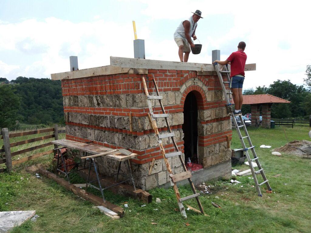 Први кораци на обнови Храма Светог Георгија на Равној гори