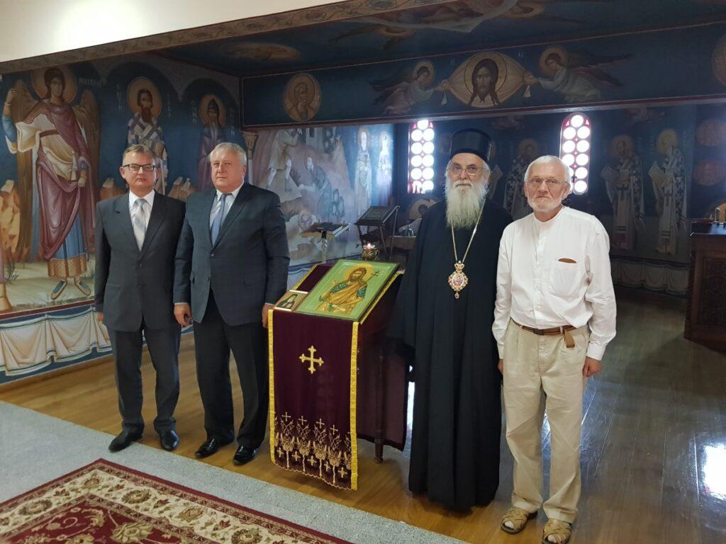 Епископ Милутин примио амбасадора Белорусије Г. Валерија Бриљова