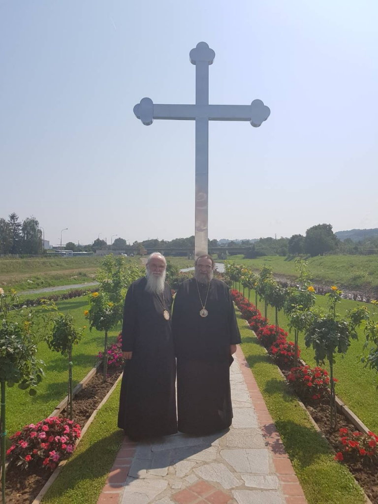 Епископ Милутин дочекао кипарског Митрополита Исаију у Храму Светог Нектарија