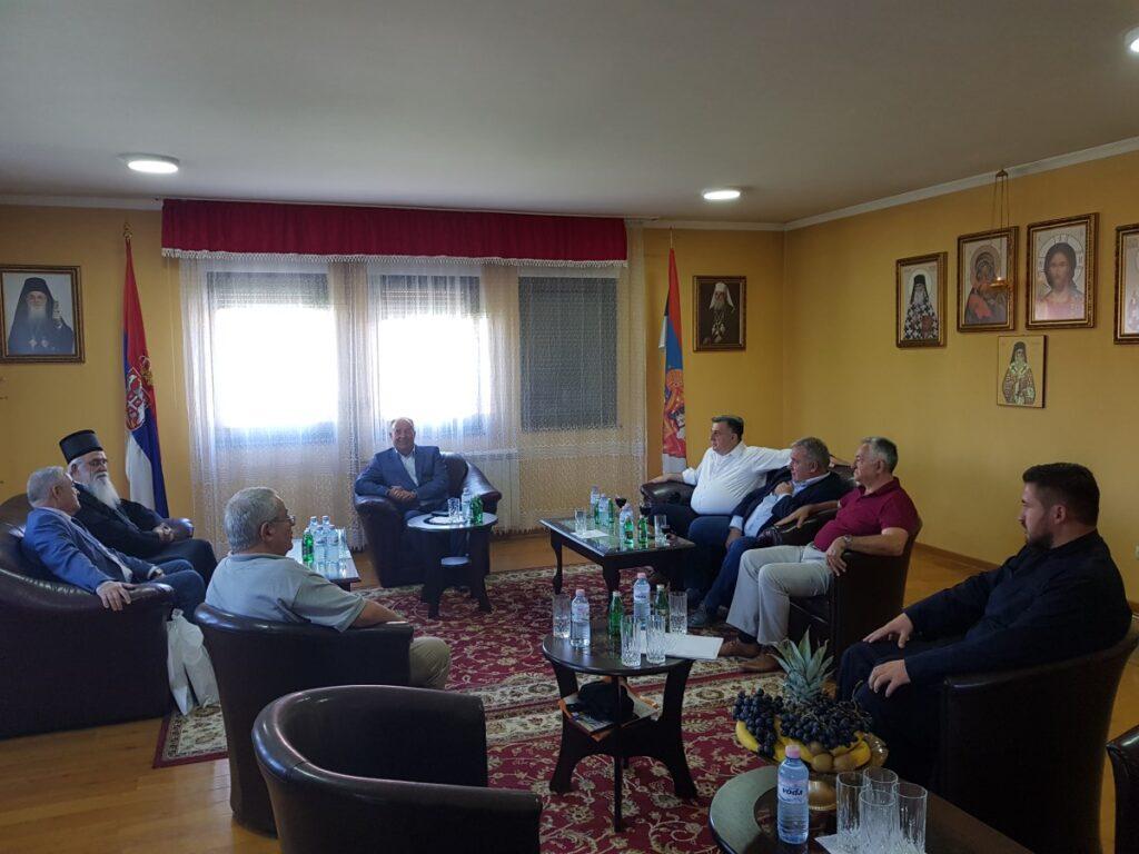 Епископ Милутин примио министрa просвете, директора канцеларије за вере и градоначелника Ваљева
