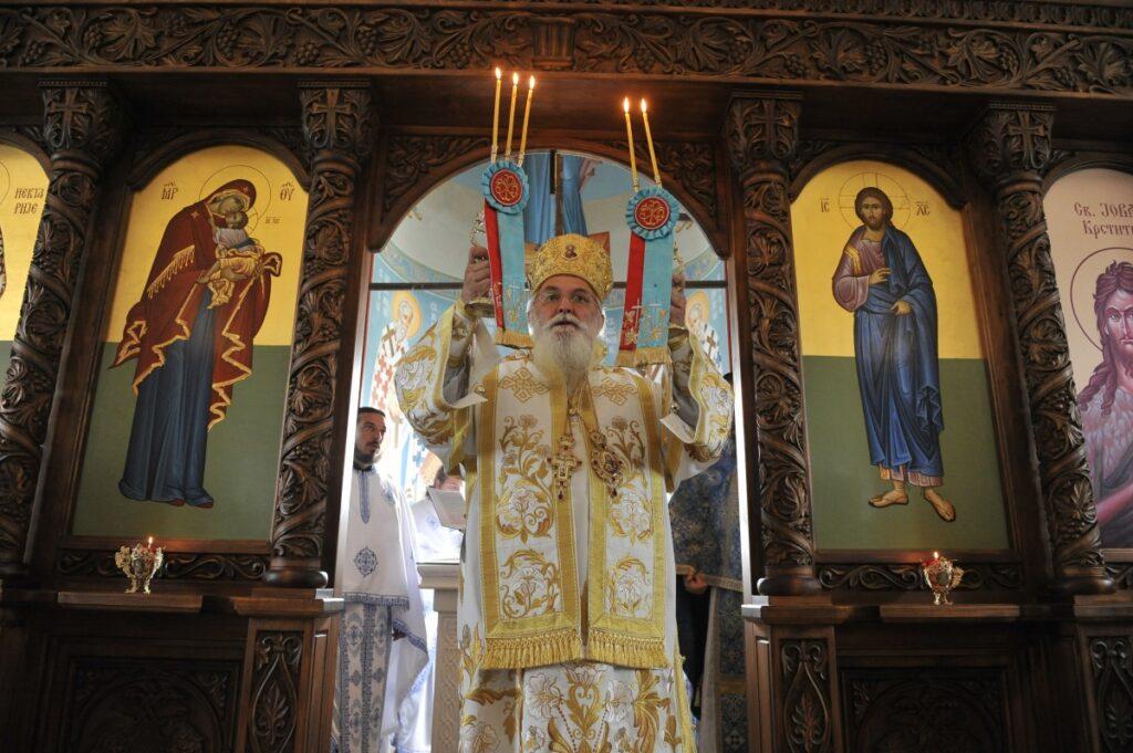 Владичанска Литургија у част рођендана Светог Нектарија Егинског