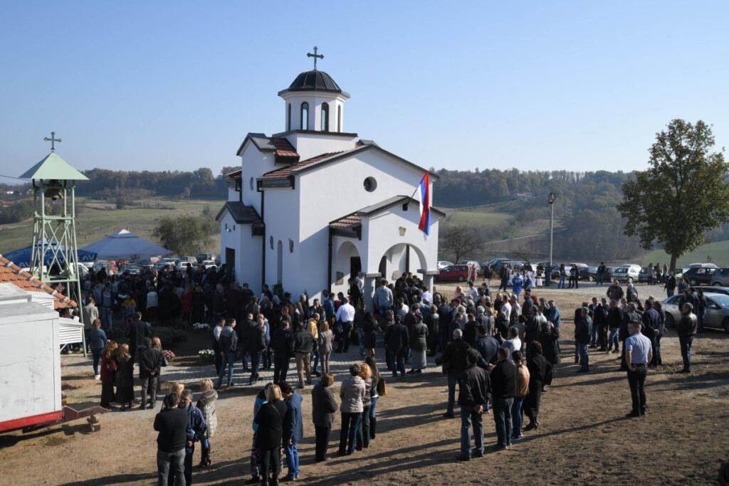 Епископ Милутин осветио новоподигнути Храм Светог краља Милутина у Бошњановићу