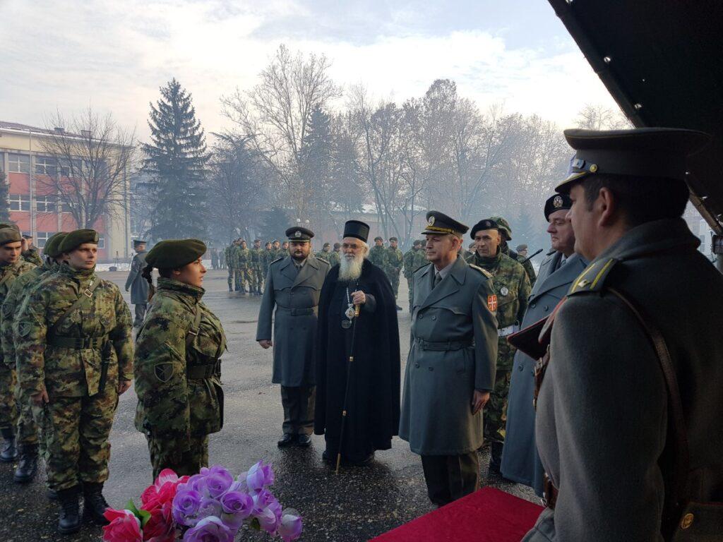 Епископ Милутин на заклетви децембарске класе