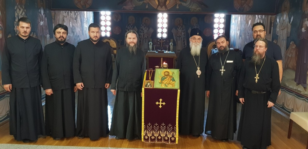 Епископ Милутин угостио проту Андреја Ткачова