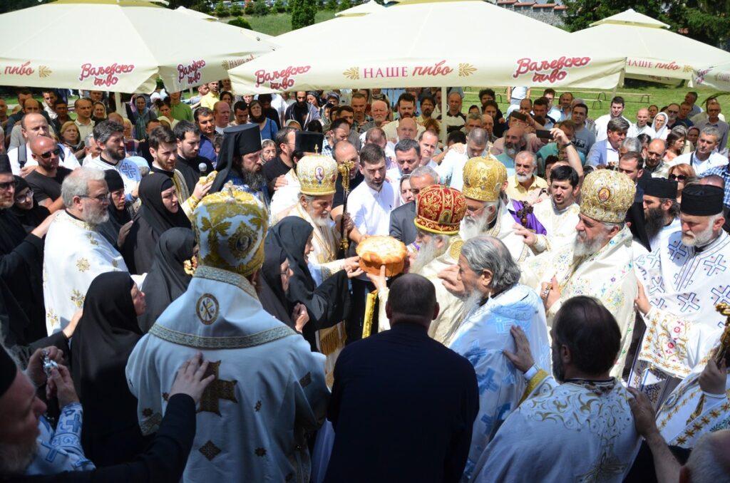 Свечаност у манастиру Ћелије у част Преподобног Оца Јустина