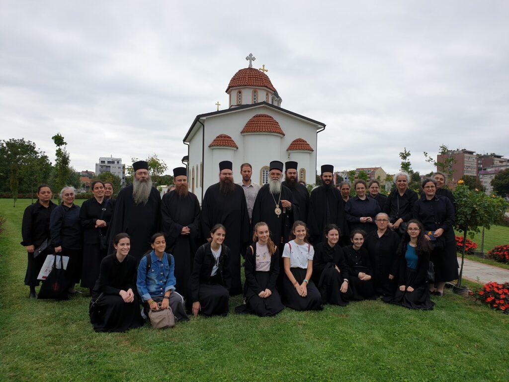 Епископ Милутин дочекао сестринство Свете Лидије са поклоницима из Грчке
