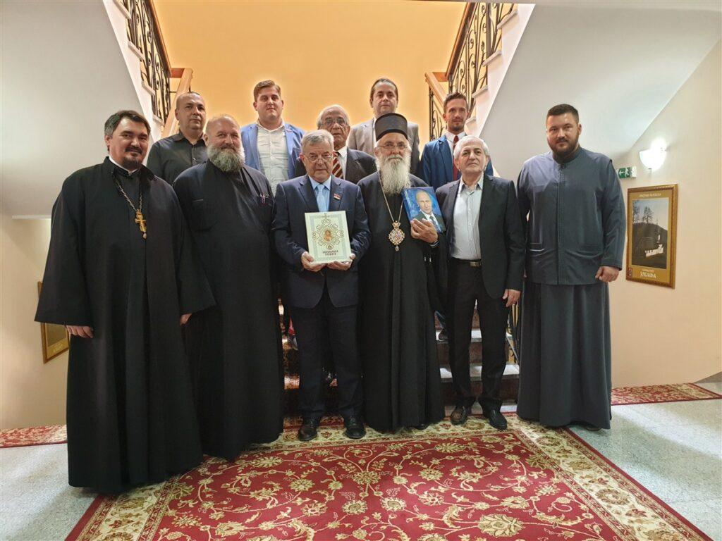 Епископ Милутин примио Господина Драгомира Ј. Карића са сарадницима