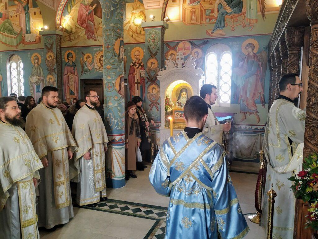 Световасилијевска Литургија у Храму Светог Нектарија