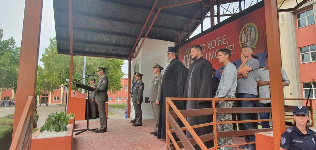 Владика Исихије на заклетви војника септембарске класе